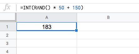 Números aleatorios dentro de un rango con la Función ALEATORIO en Excel