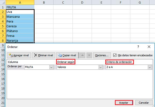 Descubre cómo ordenar las celdas de Excel