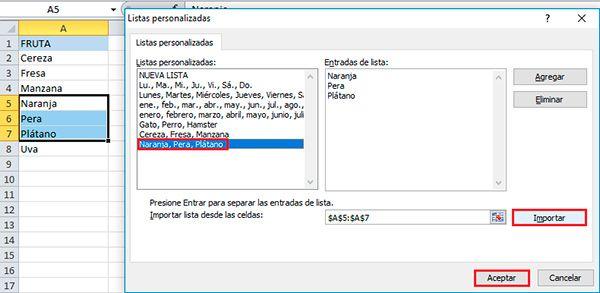 Cómo ordenar las casillas de Excel con las listas personalizadas