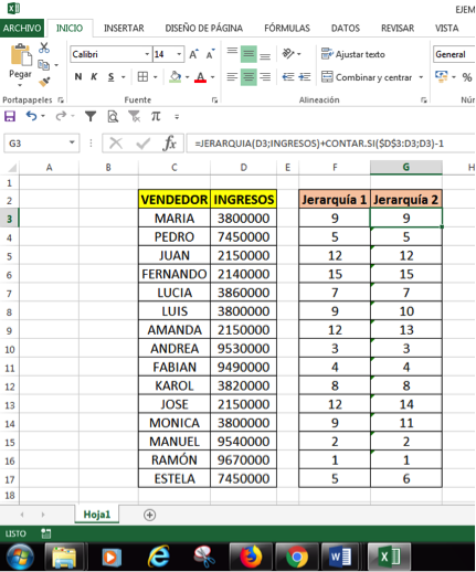 ordenar datos iguales en Excel