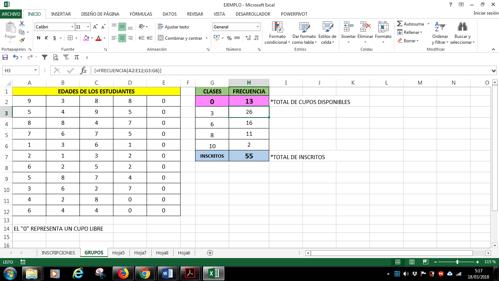 ordenar datos por frecuencia en Excel
