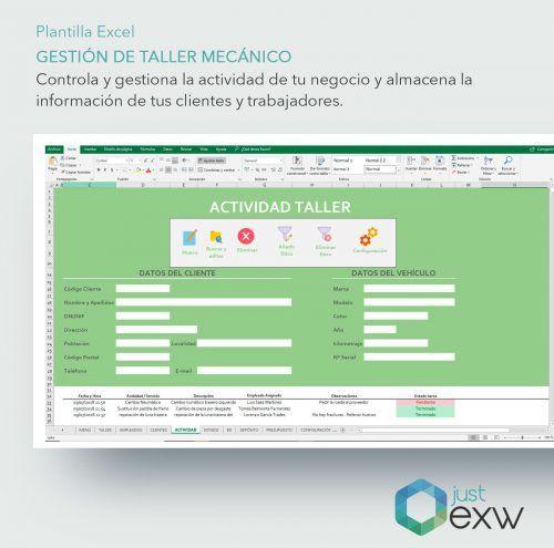 Registrar actividades taller mecánico en Excel