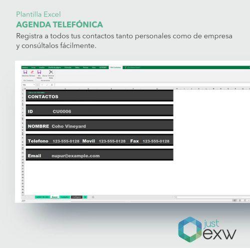 Descubre esta agenda de teléfono de Excel