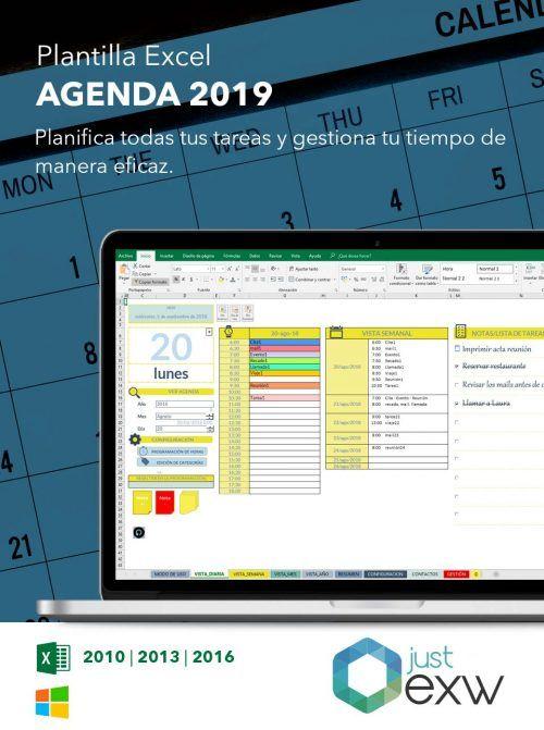 Plantilla de Excel Agenda