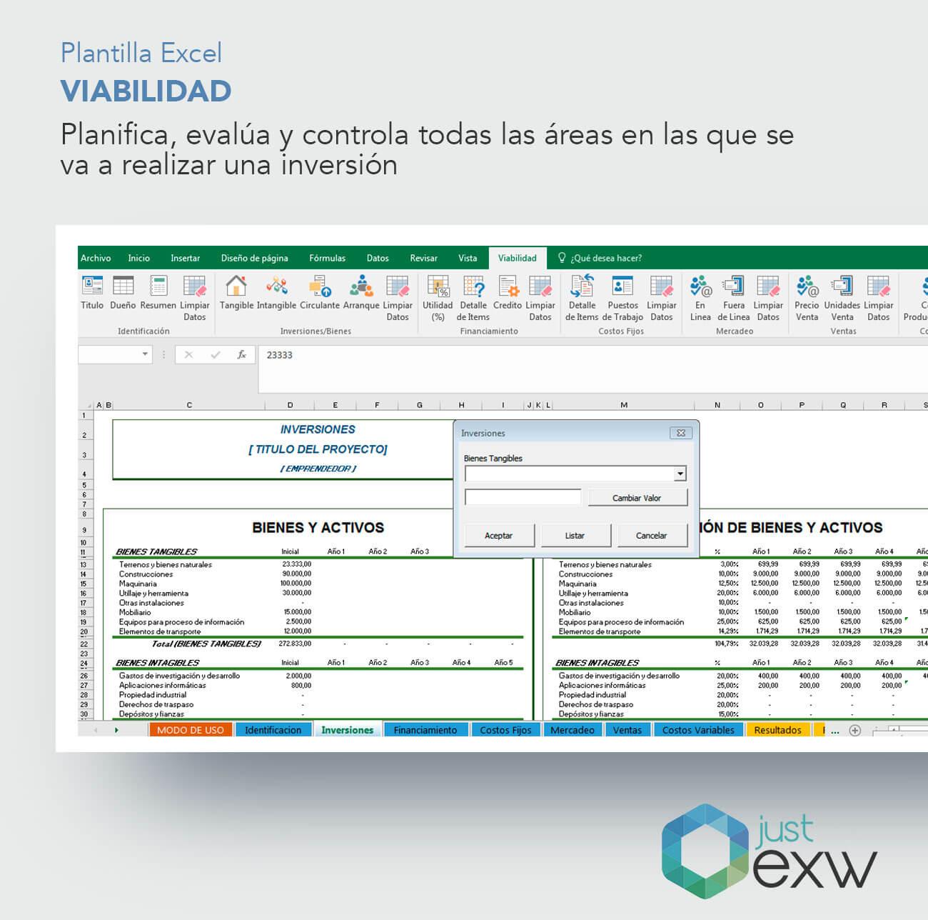 Plantilla Premium Plan Viabilidad Empresas | Plantilla de Excel ...