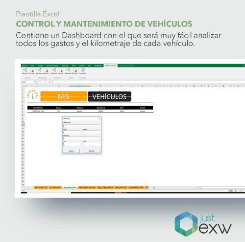 Mantenimiento de vehículos con Excel
