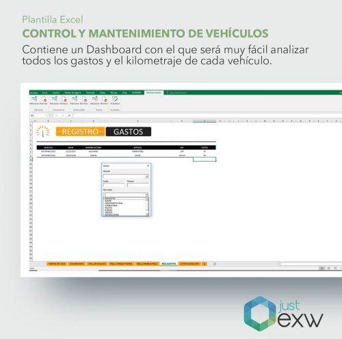 Control de vehículos con Excel