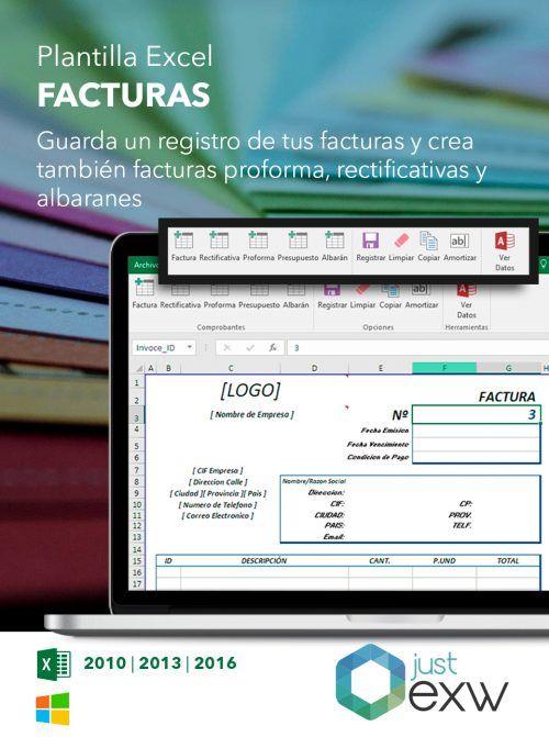 Plantilla para facturas en Excel