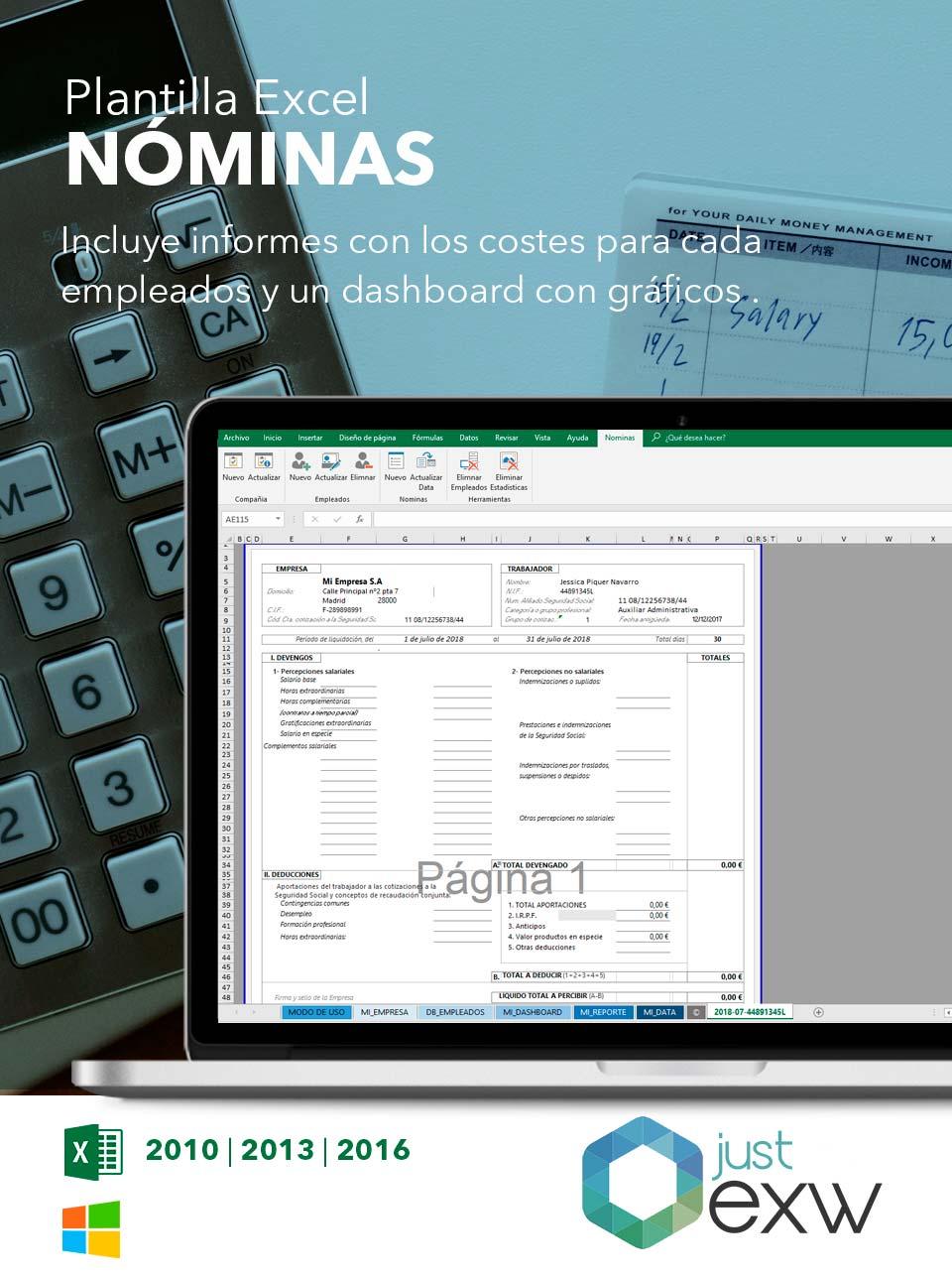 Plantilla de liquidación para Excel | Plantilla para descargar