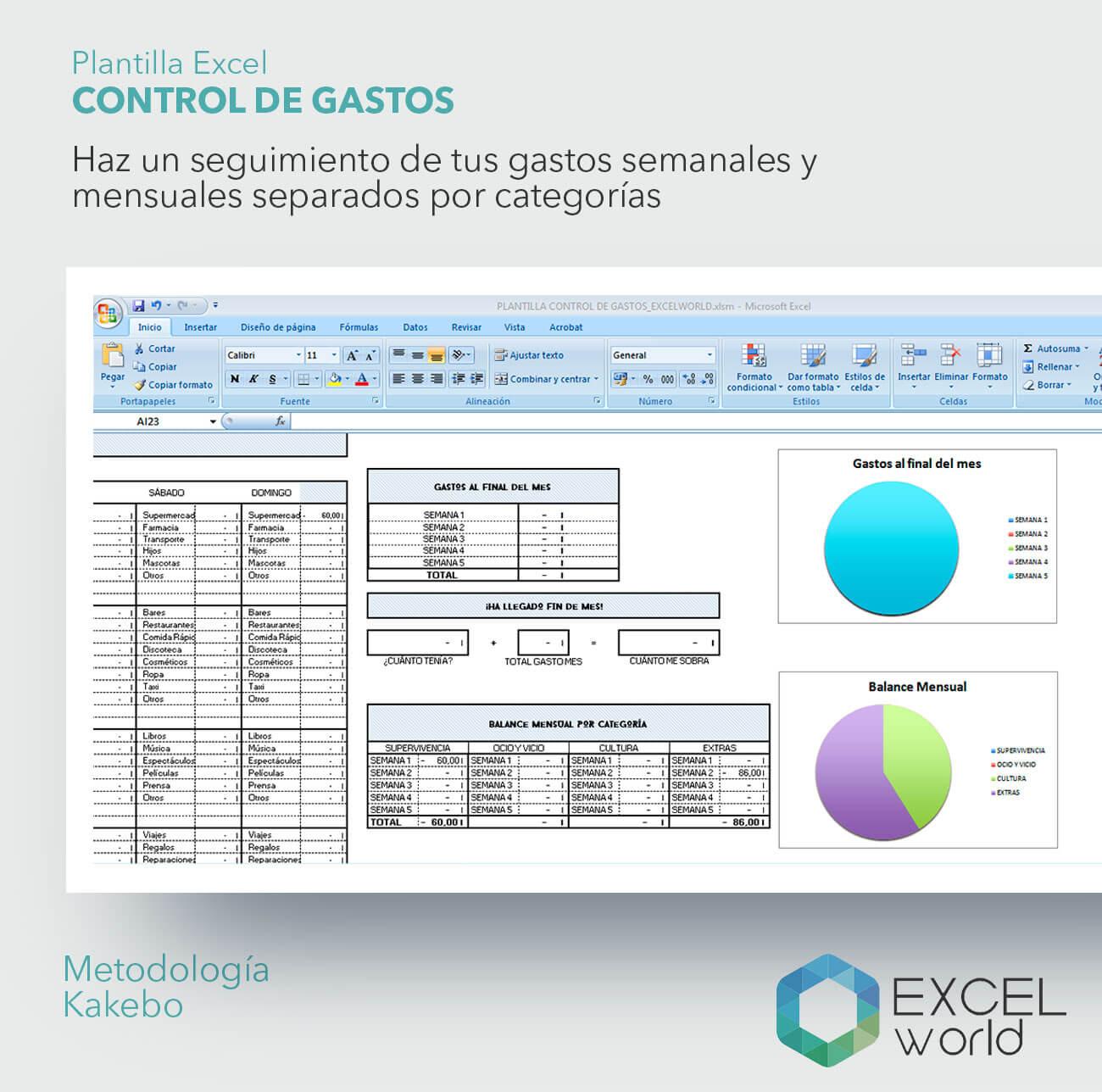 plantilla excelworld control de gastos 2 just exw