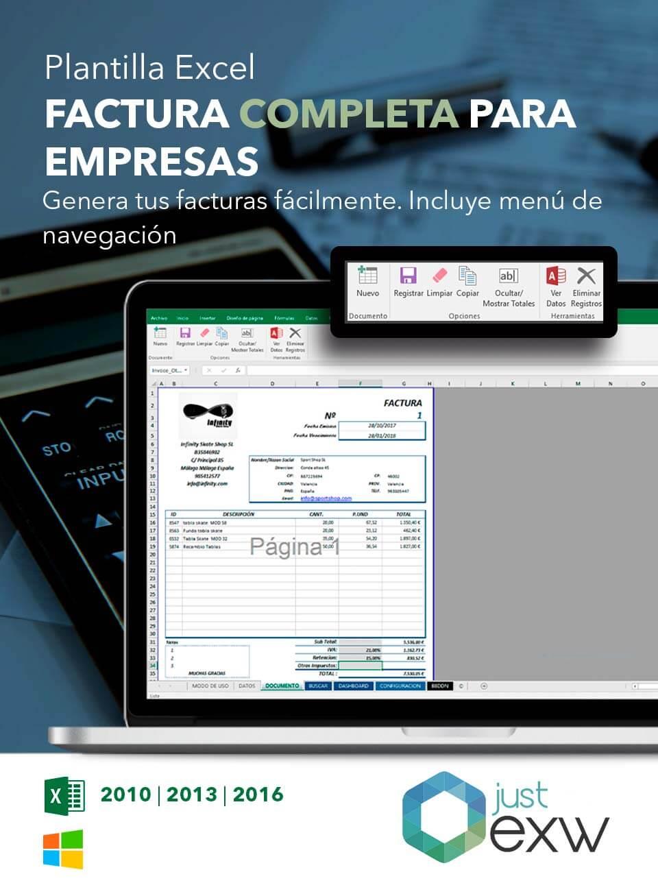 Generar facturas con Excel