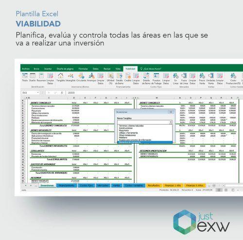 Plantilla Excel plan de viabilidad