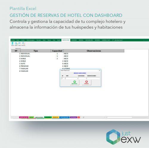 Control de habitación de hotel en Excel