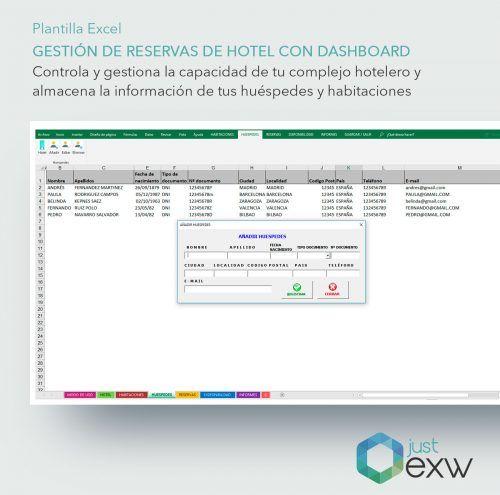 Plantilla de Excel control de habitaciones