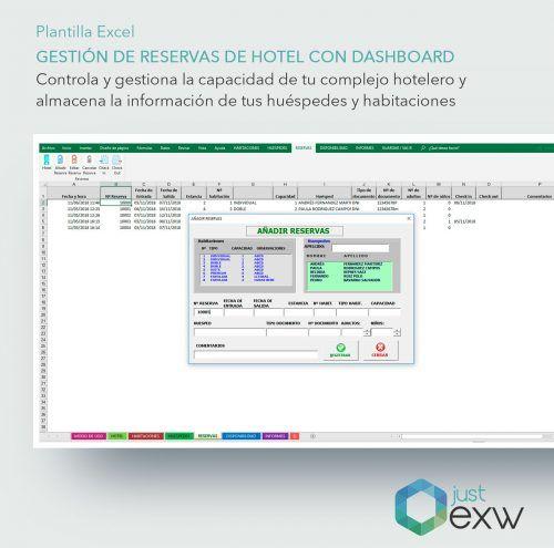 Plantilla de Excel control de reservas