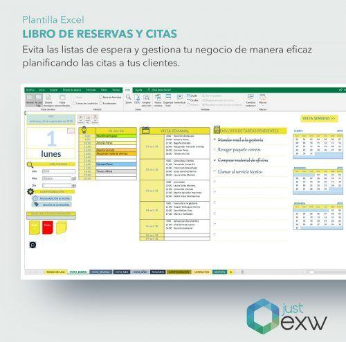 Libro de reservas en Excel