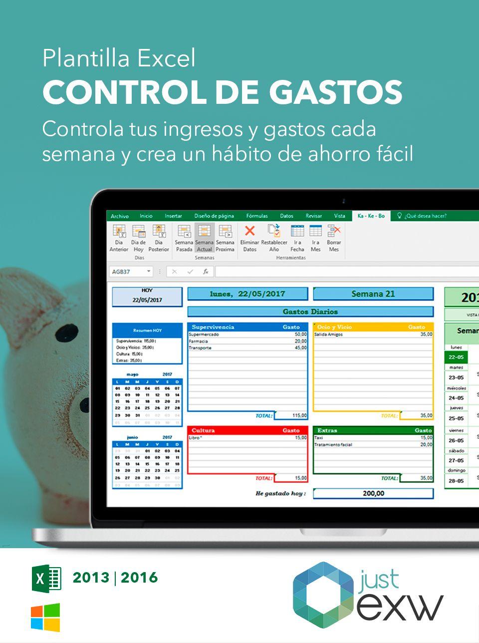 Plantilla Excel Gastos e ingresos