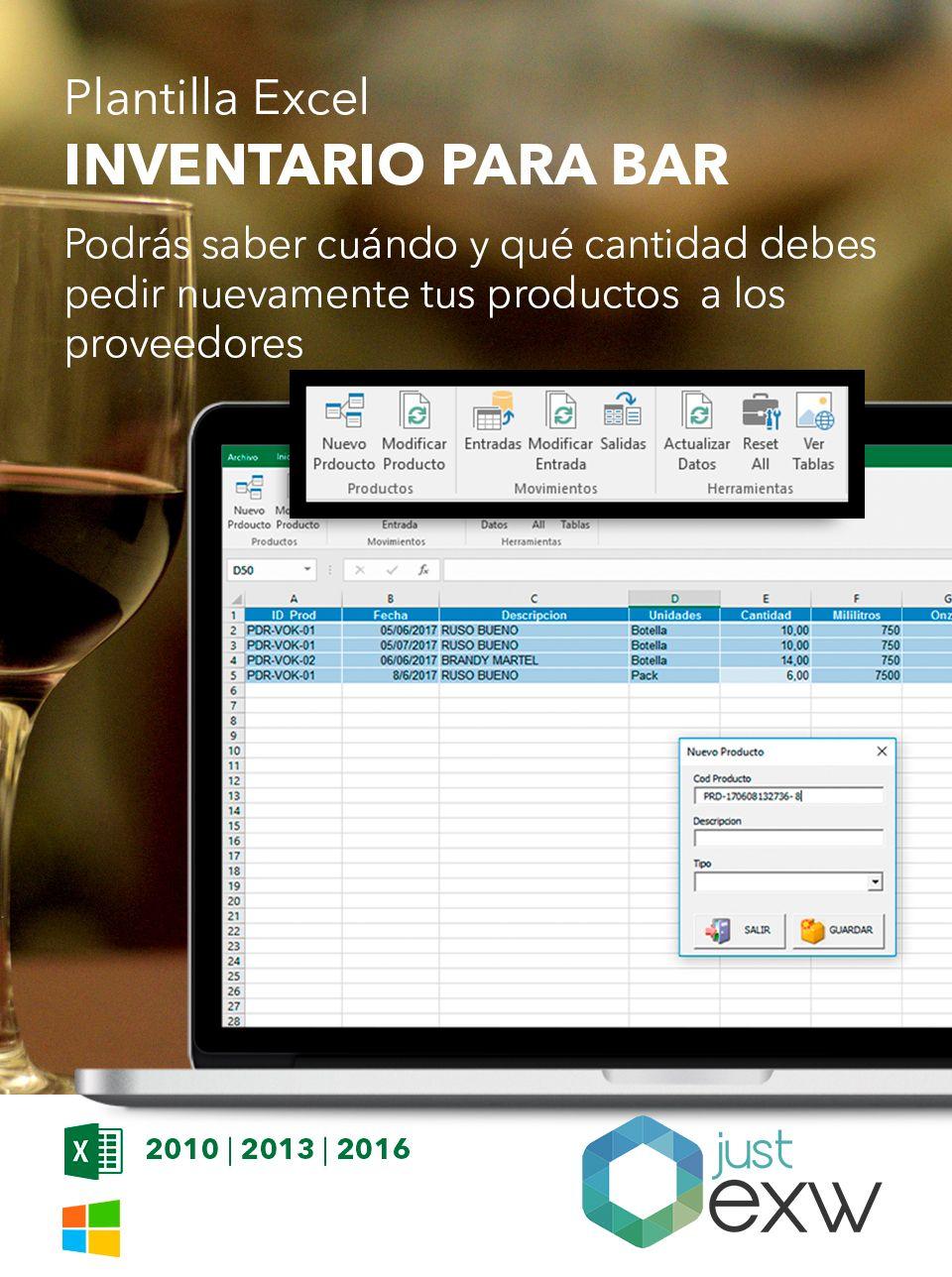 Plantilla de Control de restaurante en Excel | Plantilla para descargar