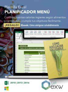 Planificador de menú semanal excel