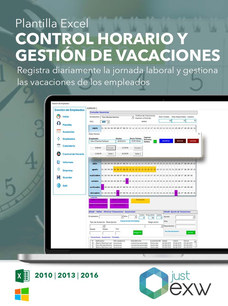 Plantilla Gratuita De Control De Vacaciones En Excel 2021