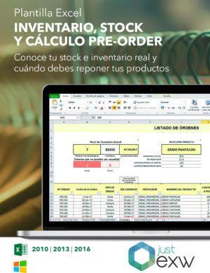 Excel para stock del negocio