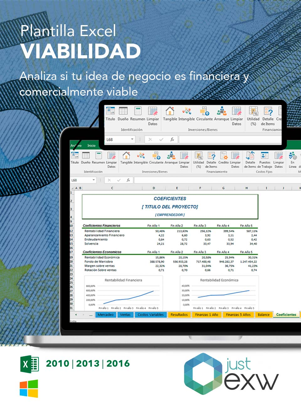 Plantilla para un plan de negocio en Excel | Business Plan