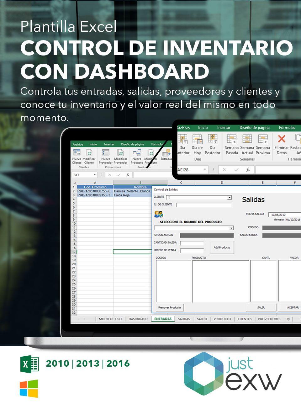 Plantilla de inventario para Excel | Plantillas para descargar