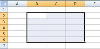 rango adyacente en Excel