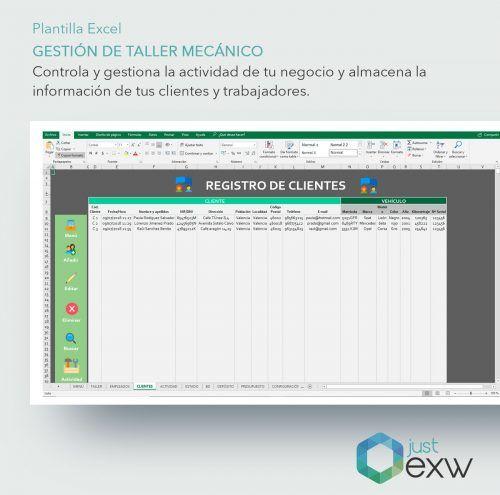 Control de clientes con Excel