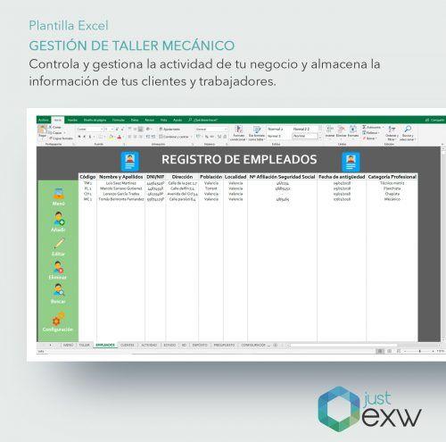 Plantilla de Excel para taller mecánico
