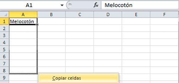 Completar automáticamente casillas Excel