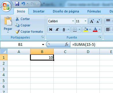 Restar en Excel