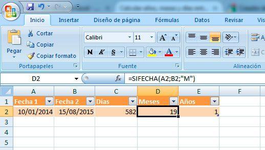 Cómo restar fechas en Excel y obtener meses