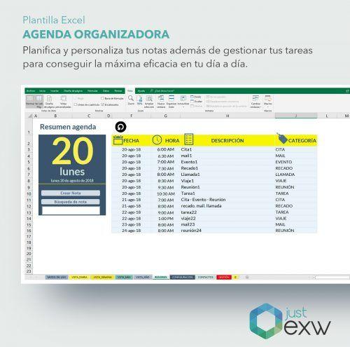 Plantilla de Excel para organizar el tiempo