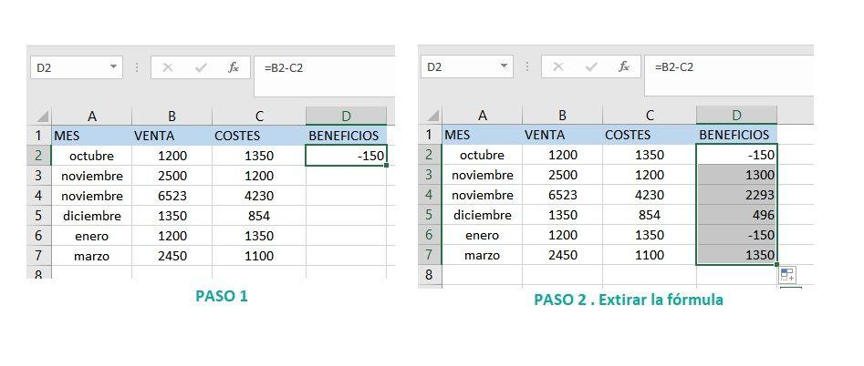 Símbolo $ en las fórmulas de Excel
