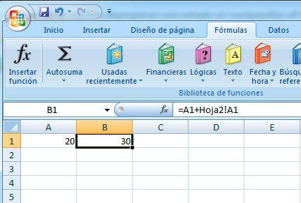 Sumar celdas de distintas hojas en Excel