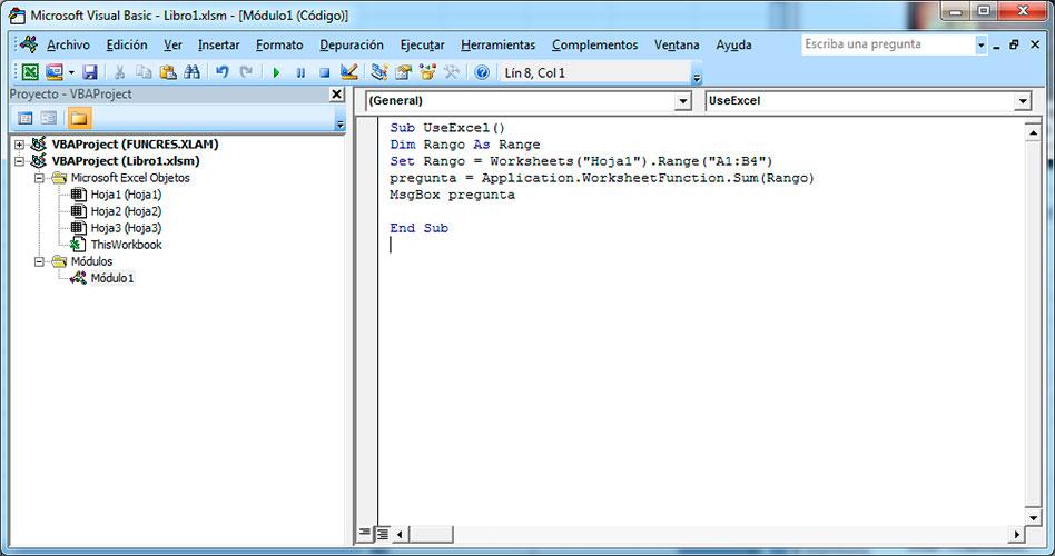 Sumar en Excel con Visual Basic