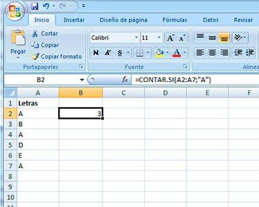 Sumar letras en Excel