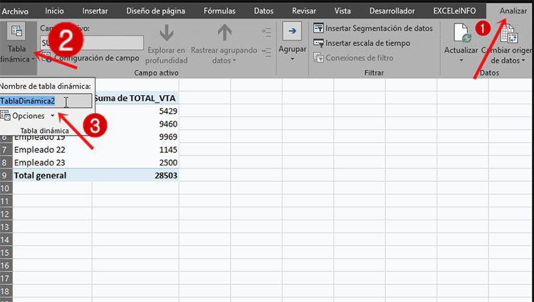 tercer paso para actualizar hojas de Excel con vba