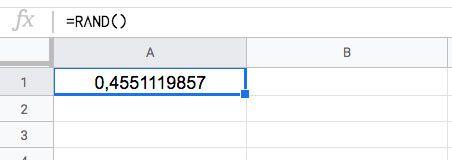 Números aleatorios con la Función ALEATORIO en Excel