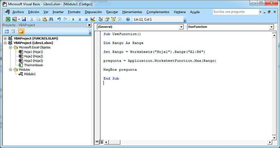Cómo usar las funciones de Excel con Visual Basic