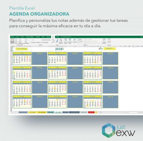 Agenda para organizar en Excel
